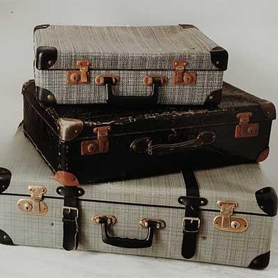 Koffer für Dekoration